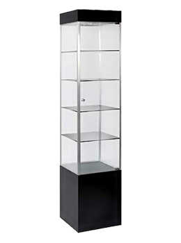 lockable glass display cabinet