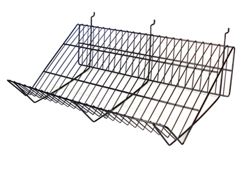 wire shelves slatwall