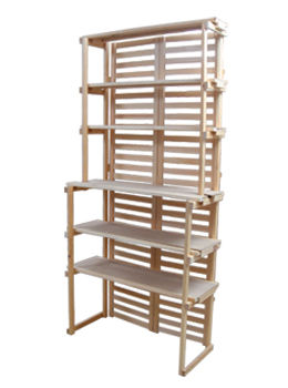 wooden bakers rack