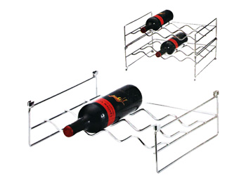 horizontal wine rack