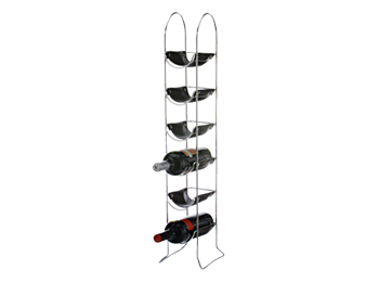 tall narrow wine rack