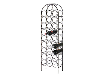 metal floor wine rack