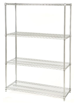 metal wire shelving unit