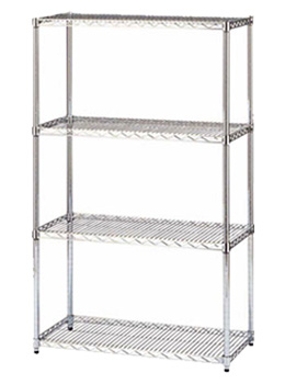 chrome shelving unit,