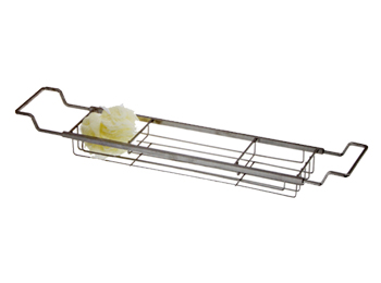 chrome bath caddy