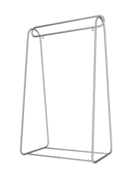 chrome clothes rack