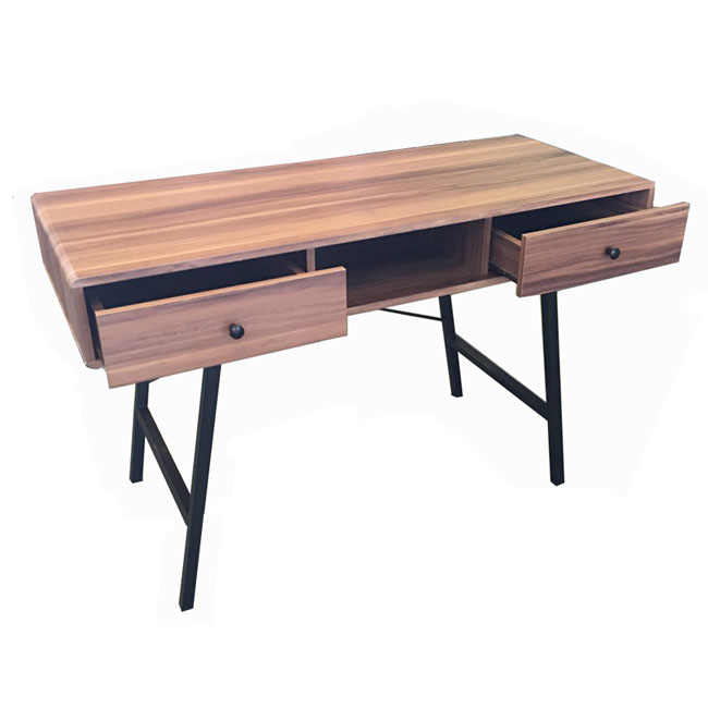 particle board desk with storage drawers