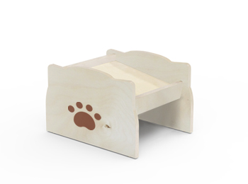 Wooden Pet Bowl Stand