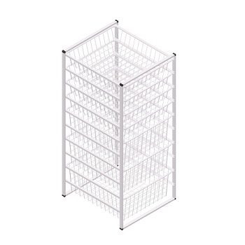 10 Tier Wire Storage Shelf Organizer
