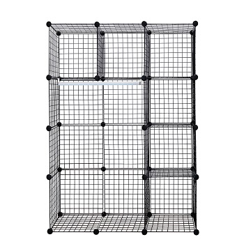 black wire storage cubes