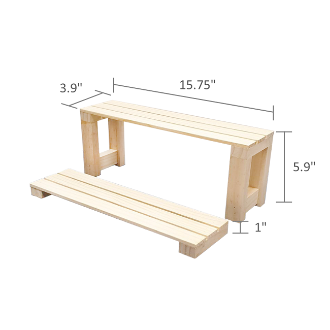 The Size of Wooden Toy Display Stands