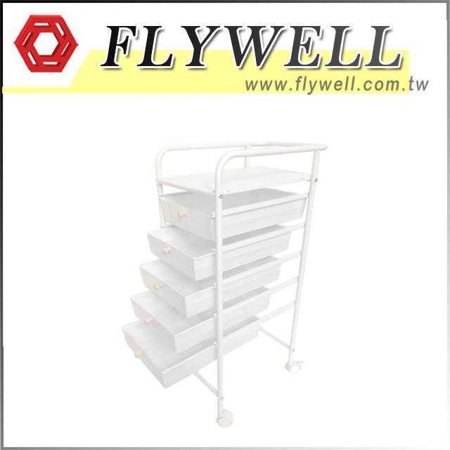 5 Mesh Drawers Rolling Storage Cart