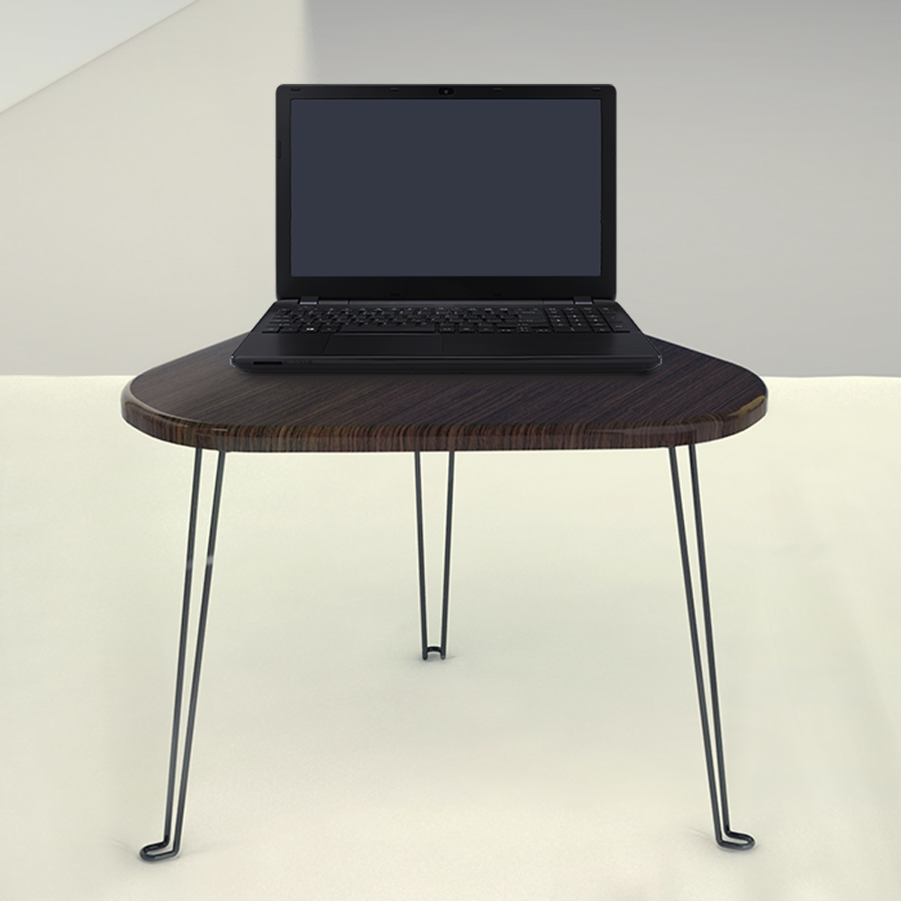 Triangle Wood Portable Laptop Table with laptop
