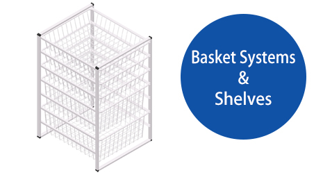 white basket system & systems