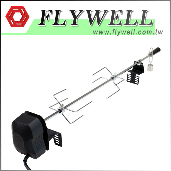 Charcoal Spit Rotisserie Grill Kit