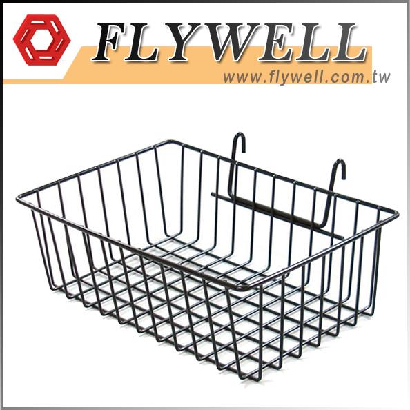 White Gridwall Metal Wire Storage Baskets