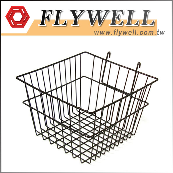Square Black Wire Wall Hanging Basket
