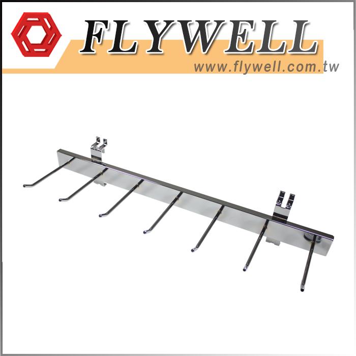 Chrome Slatwall Tie And Belt Holder