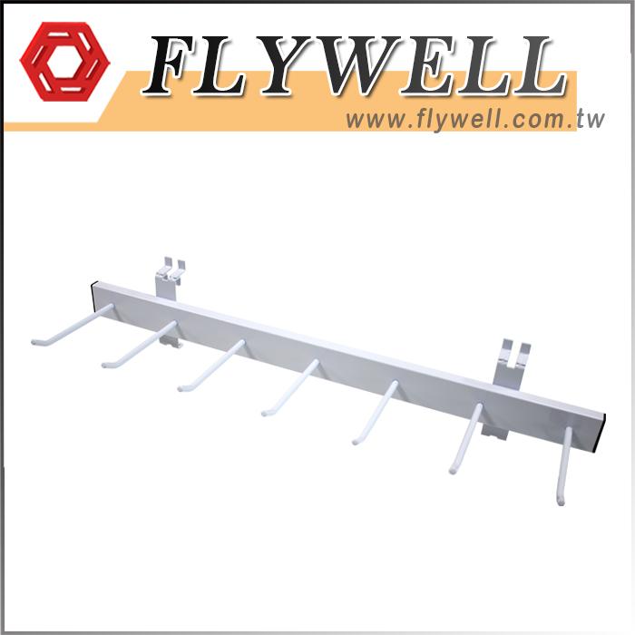 White Slatwall Tie Storage Rack Hanger