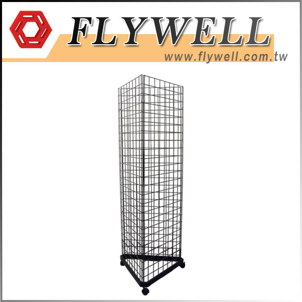 Black Triangle Wire Gridwall Panel Tower