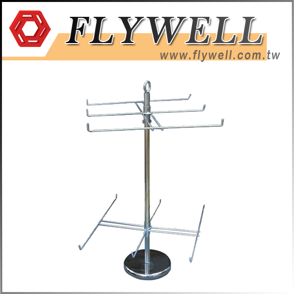 2 Tier Hanging Counter Spinner Rack with zinc finish TW supplier