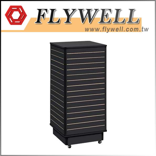 Rolling Black Slatwall Floor Displays