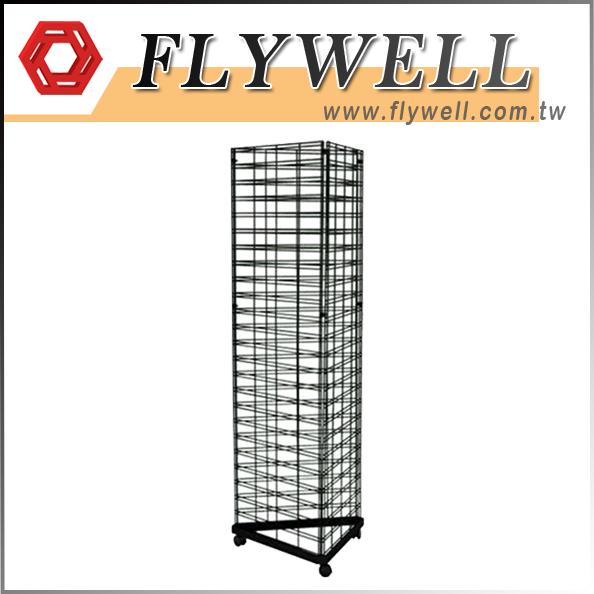 3 Sided Wire Slat Grid Shelving System