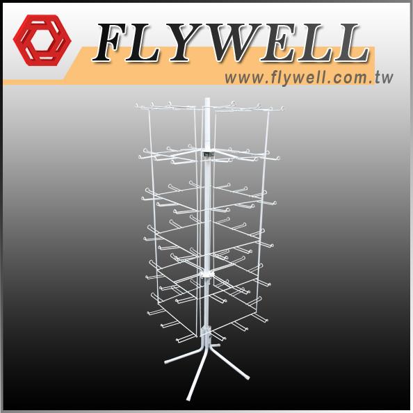 4 Sided Hanging Floor Spinner Rack