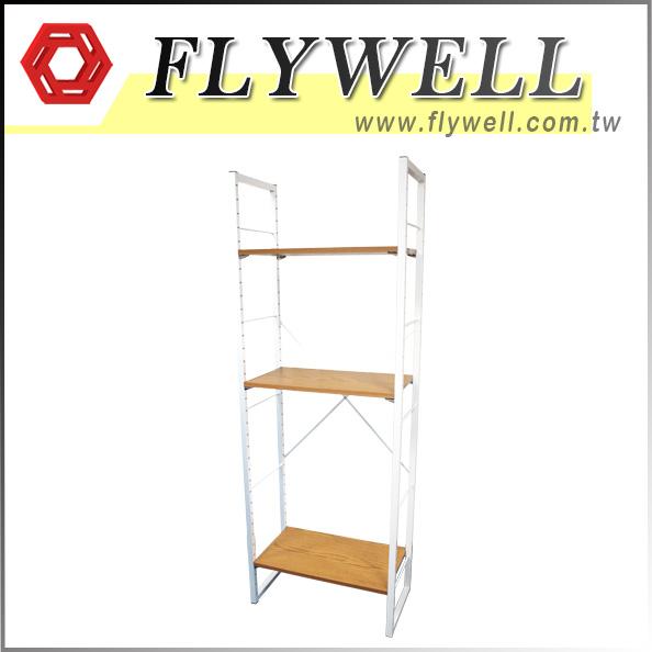 Open Adjustable Floor Storage Shelves