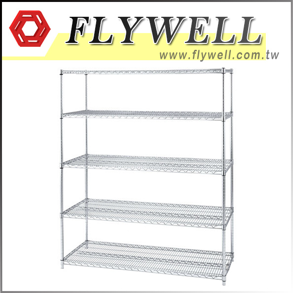 5 Shelf Commercial Metal Wire Shelving