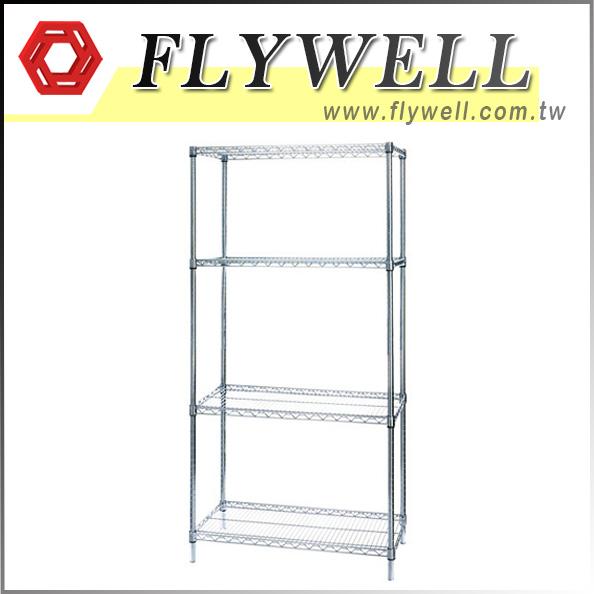 4 Shelf Wire Storage Shelving Unit