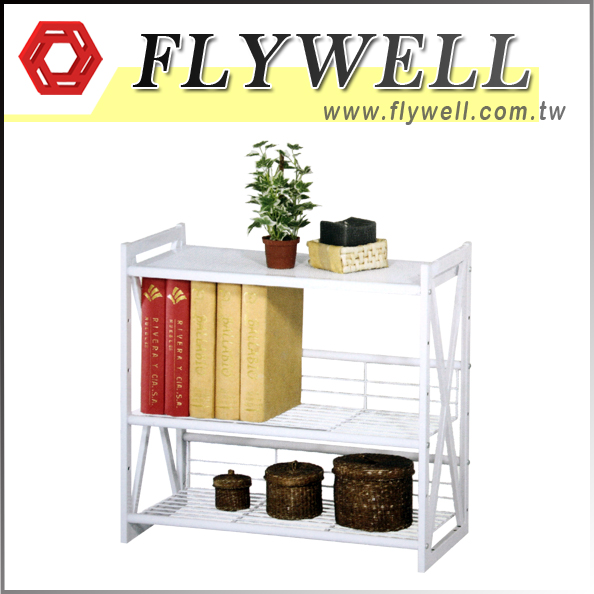 3 Tier White Wire Shelving Unit