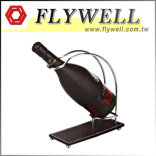 Metal Tabletop Single Wine Bottle Rack