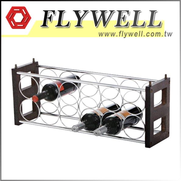 12-Bottle Stackable Countertop Wine Holder