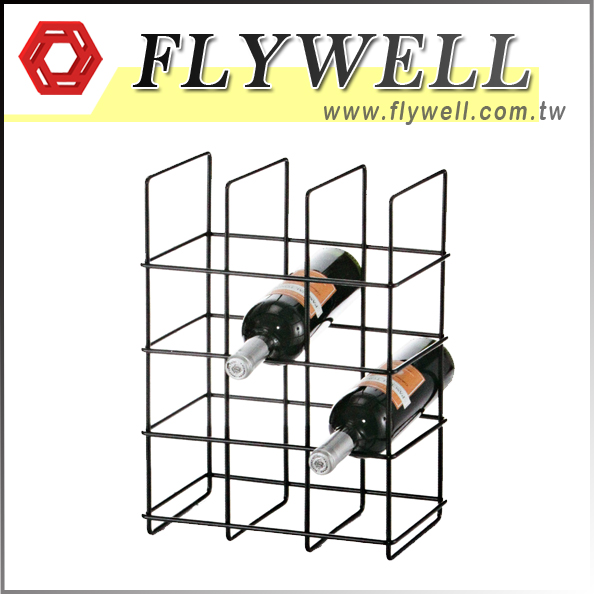 Metal 4 Tier 12-Bottle Wine Rack