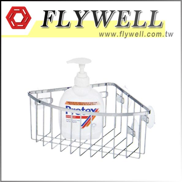 Chrome Wire Corner Shower Caddy Shelf