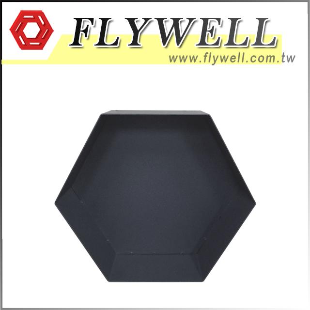 Metal Hexagon Floating Wall Shelves