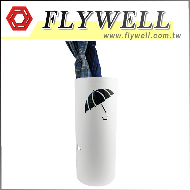 Silver Metal Round Umbrella Stand