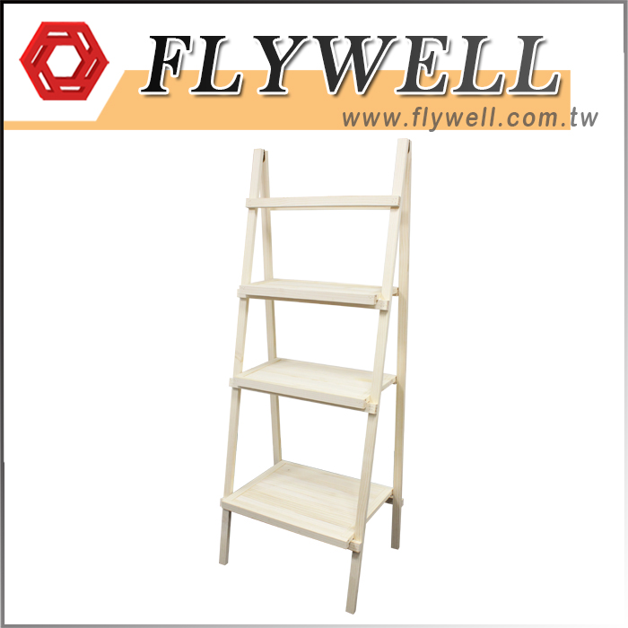 3 Tier Rustic Wooden Ladder Shelf