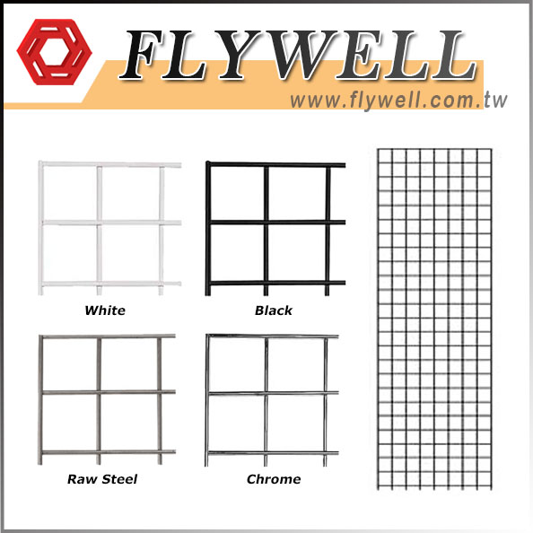 Metal Wire Square Grid Wall Panel