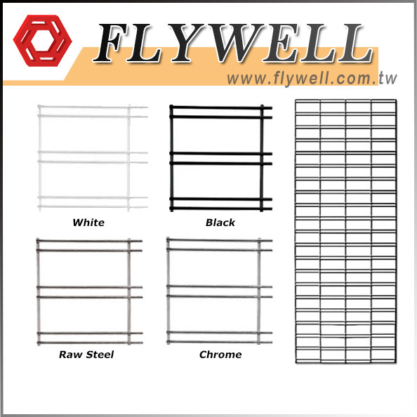 Metal Wire Slat Grid Panels with different finish